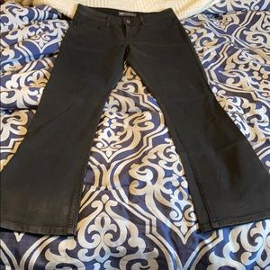 Levi's coated black jeans
